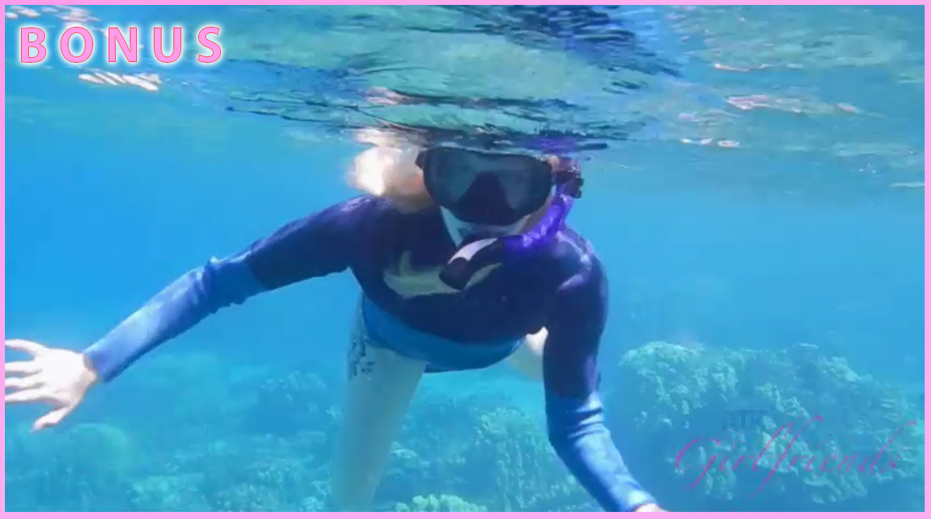 Victoria snorkels with the turtles!
